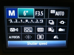 Choose shutter speed