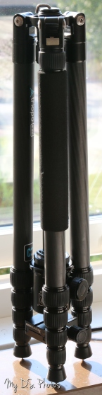 Folded tripod with ballhead